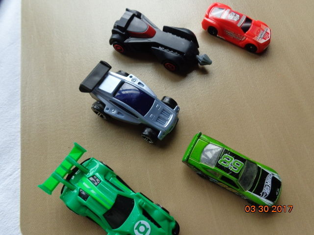 A LOT OF FIVE  (5) SMALL MISC TOY  VEHICLES
