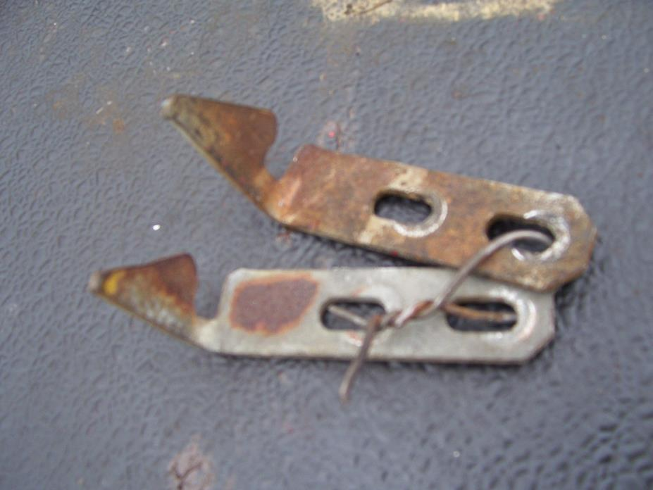 VINTAGE FORD  2000 GAS TRACTOR -FUEL DOOR LATCH BRKTS - 1964