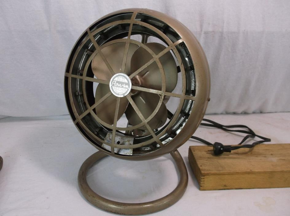 Vintage ARVIN Electric Space Heater & Fan Retro desk fan GE westinghouse
