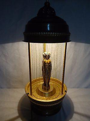 Large Vintage Oil Rain Motion Lamp 3 Greek Goddesses Table Top 30 3/4