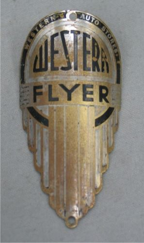 Vintage Western Flyer Bicycle Head Badge