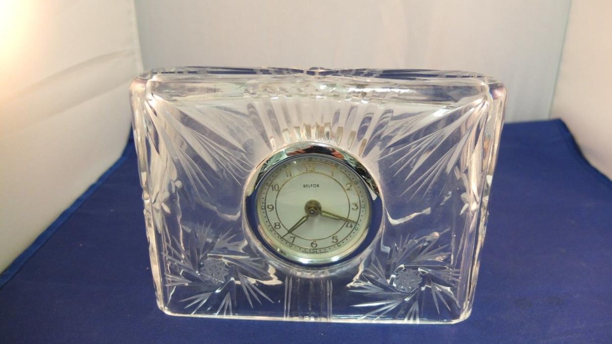 Vintage Belfor Crystal Clock