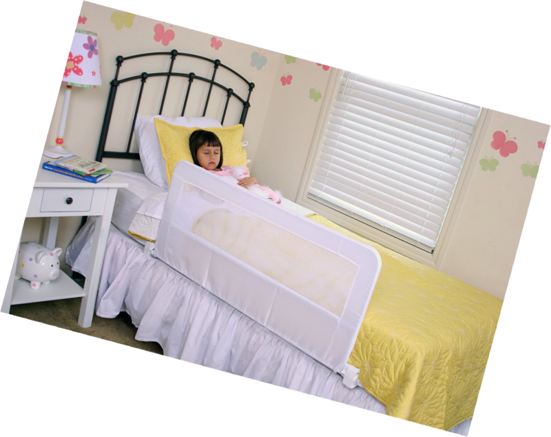 Regalo Swing Down Bedrail Bed Rail Crib Toddler Elderly Child Secure Safety Fit