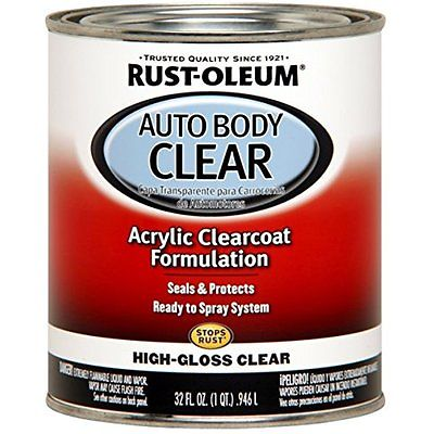 Clear Coats Rust-Oleum 262178 Gloss Clear Automotive Auto Body Clear Coat - 32