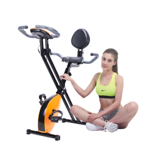 Adjustable Upright Magnetic Exercise Bike Cycling Bicycle Home Fitness Equipment