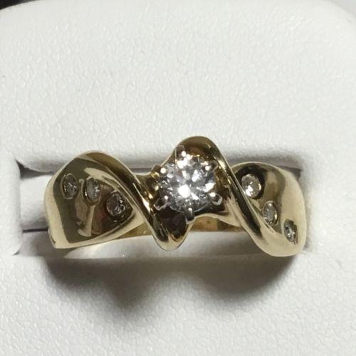 .20 CTW Side Diamonds - Ladies 14K Yellow Gold Engagement Wedding Ring Mounting