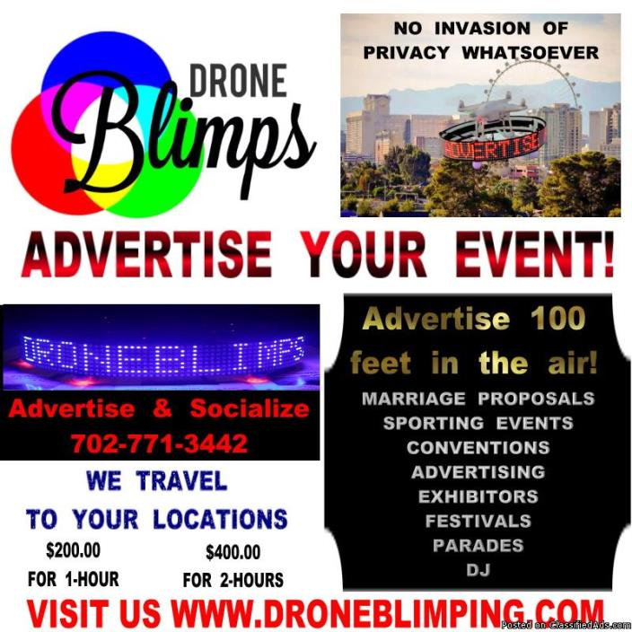 ADVERTISE YOUR NEXT EVENT - DRONE BLIMPS