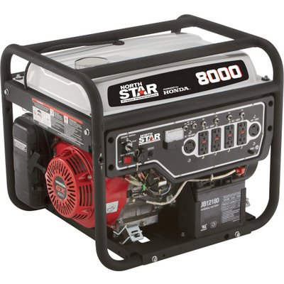 NorthStar Portable Generator - 8000 Surge Watts, 6600 Rated Watts