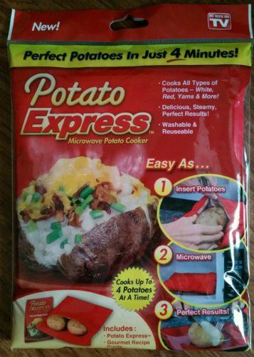 Potato Express Microwave Potato Cooker Durable Polyester Bag AS SEEN ON TV