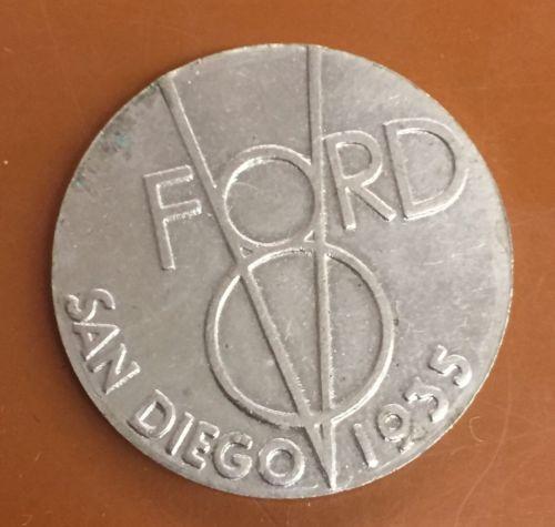 1935 Ford V8 San Diego Token/Medal