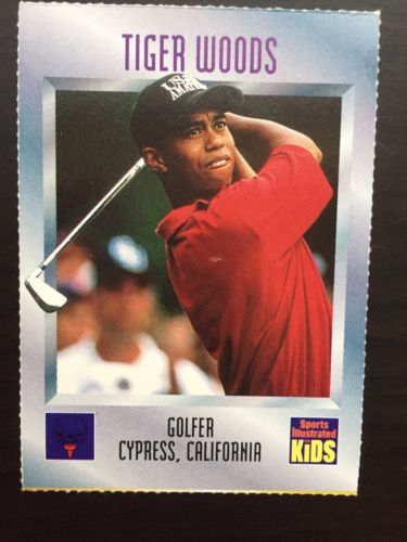 TIGER WOODS 1996 Sports Illustrated SI For Kids #536 RC True Rookie Card PGA RC