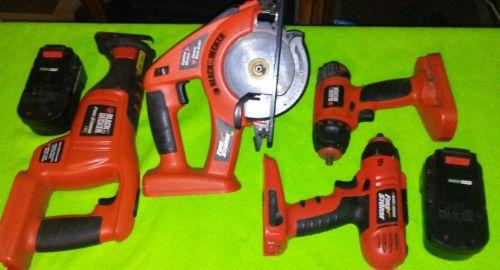 Black & Decker 18v tools