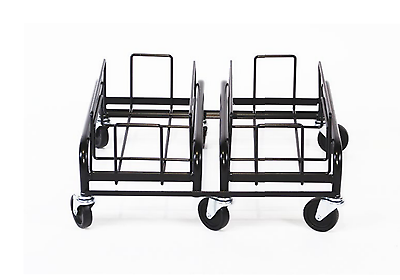 Waste Watcher Double Black Wire Dolly Receptacle