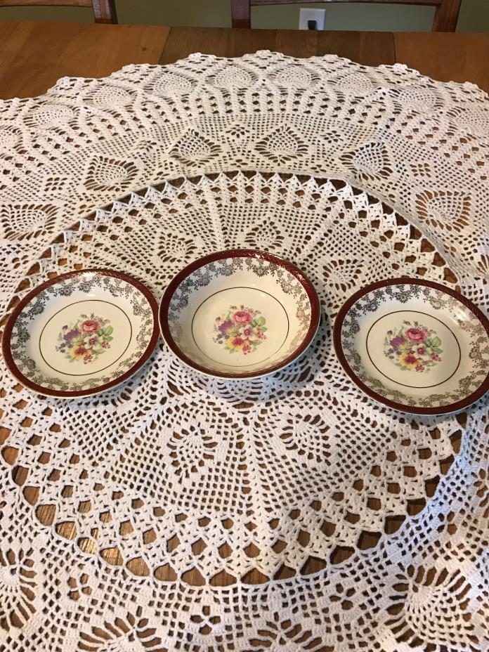 3 PIece Antique Heritage DeLuxe Fresco Warranted 22-K Gold Made in USA
