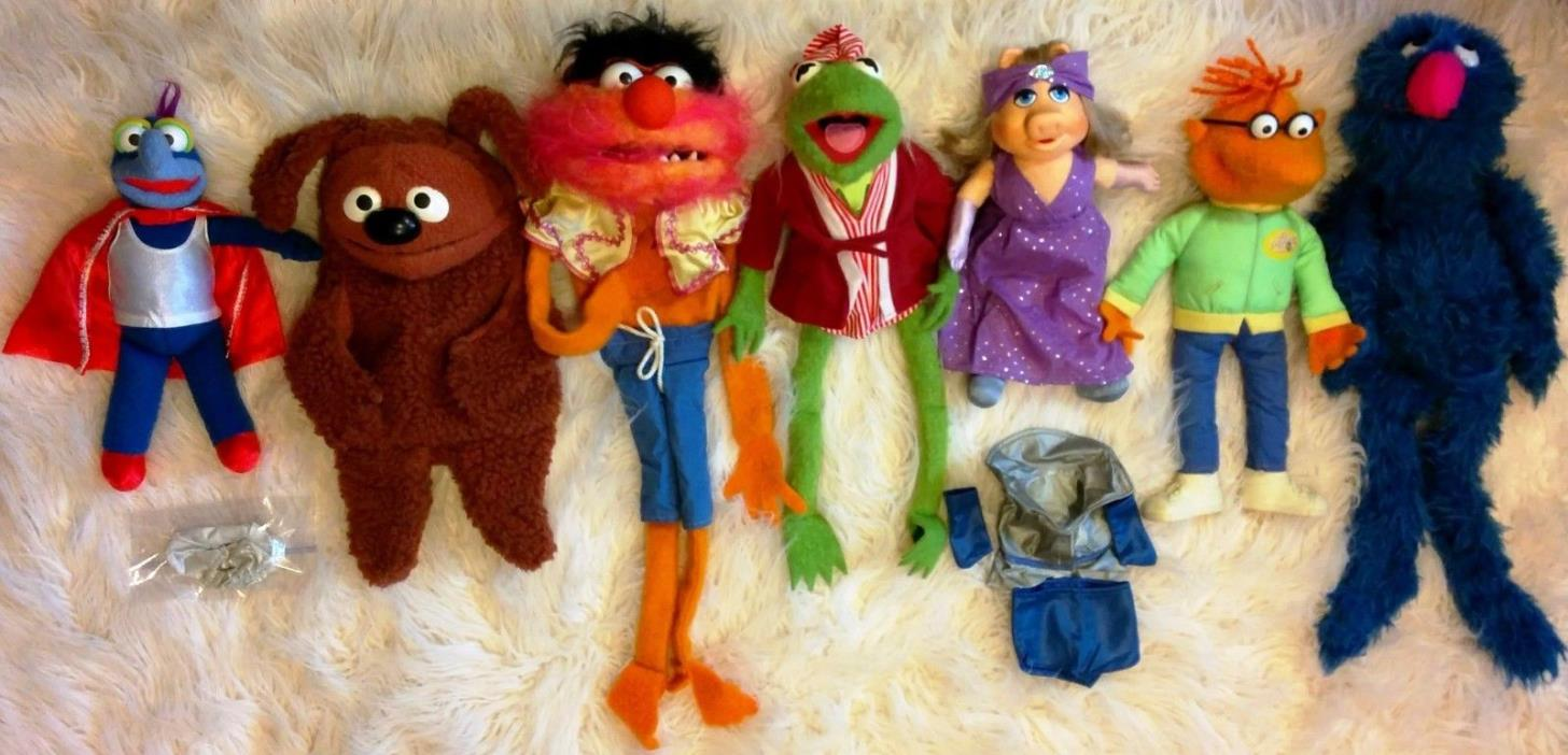 Vintage MUPPET SHOW Character Doll Lot FULL SET 1970's FISHER PRICE W/ Outfits