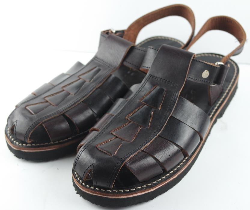Mens Fisherman Sandals Puro Cuero Size 11