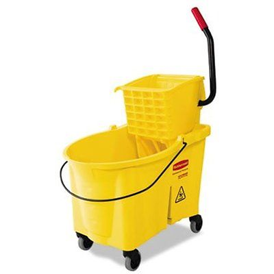 Buckets Rubbermaid Commercial Products FG618688YEL WaveBrake Mopping System and