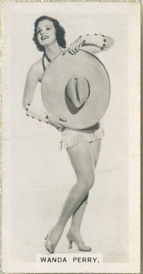 Wanda Perry 1937 Carreras Film Stars Tobacco Card #20