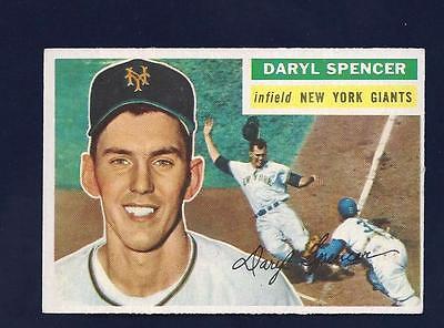 1956 Topps Baseball #277 DARYL SPENCER NM NEW YORK GIANTS NO CREASE