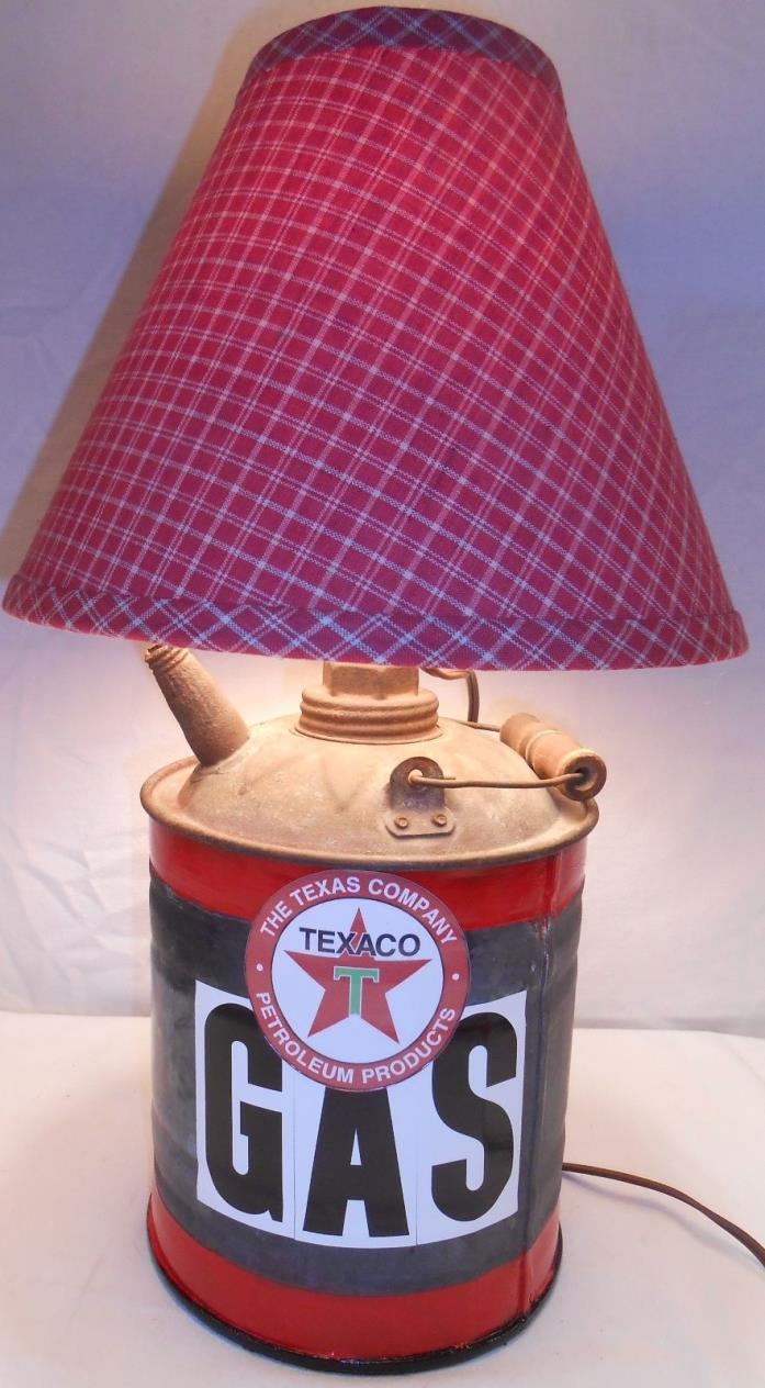 GAS CAN LAMP Steampunk - Man Cave Decor