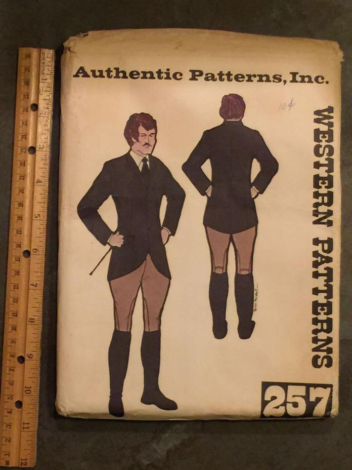 Authentic Patterns, Inc 257 Men's Hunt Coat and Riding Breeches