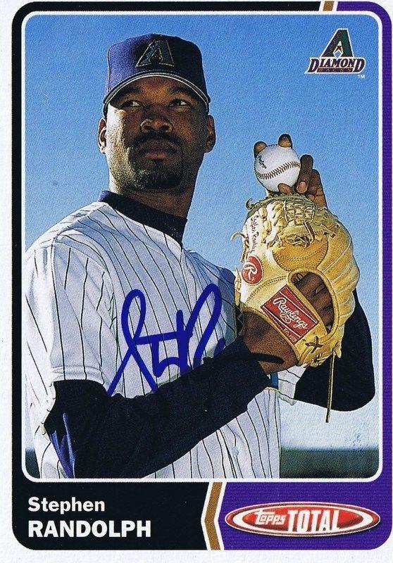 Stephen Randolph 2003 Topps Total Autograph #323 Diamondbacks