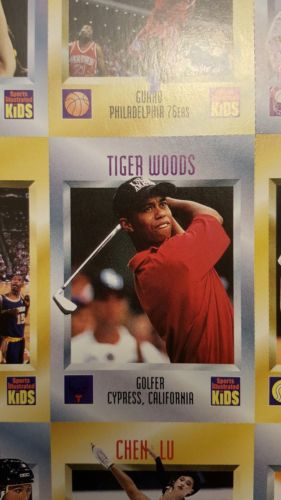 1996 Sports Illustrated SI For Kids Tiger Woods Rookie Golf Card --- MINT