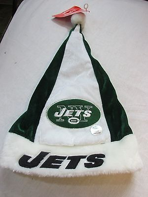 NWT NFL NEW YORK JETS GREEN AD WHITE CHRISTMAS HAT