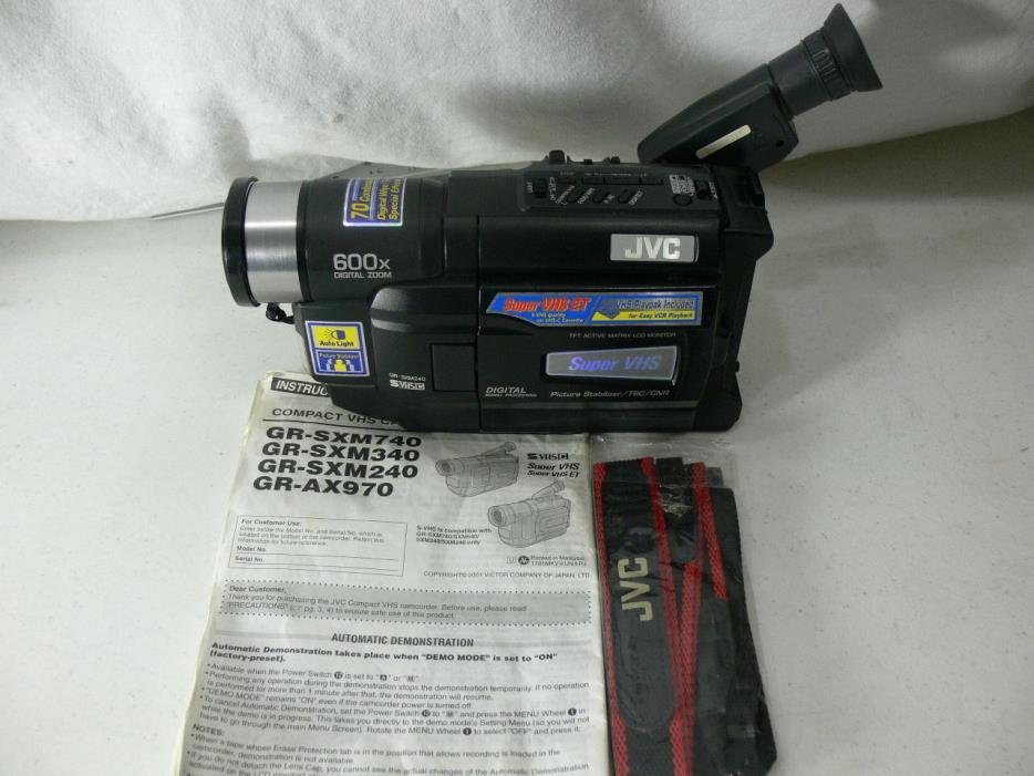 Jvc Super Vhs Digital Camcorder For Sale Classifieds