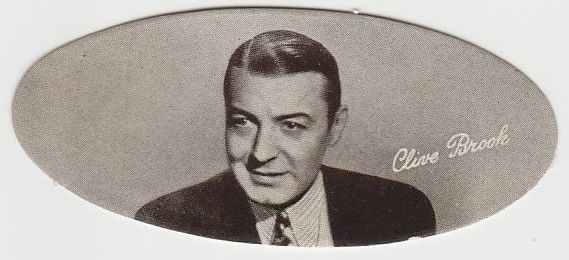 Clive Brook 1934 Carreras Film Stars Oval Tobacco Card #17
