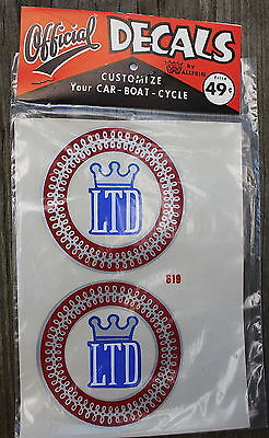 NOS Vintage LTD Logo #619 Official Decals by Wallfrin Permanent