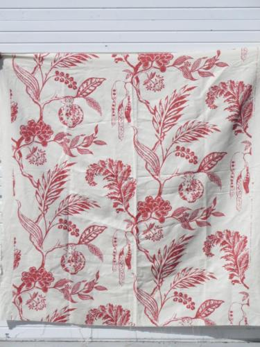 Palma Manuel Canovas Paris 1999 Ivory Rust Floral Botanical Twill Fabric *