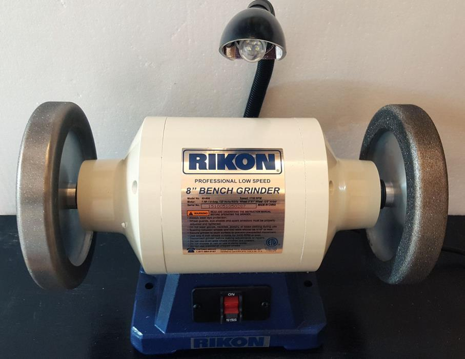 Rikon Grinder 1hp with 2 - 4-in-1 Design CBN wheels / 180+600 grits