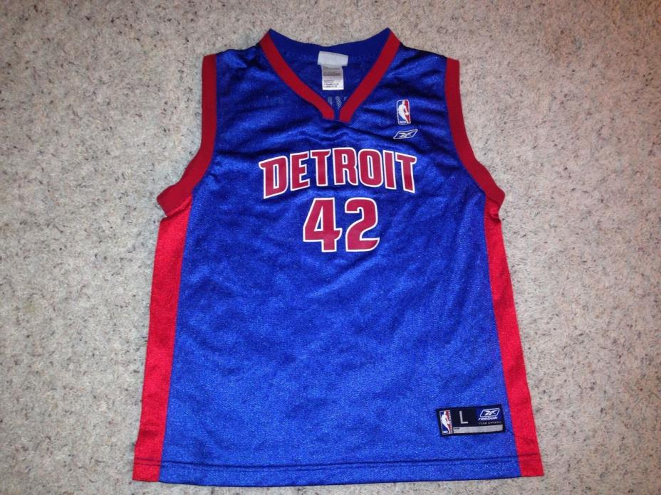 NBA Detroit Pistons #42 Jerry Stackhouse Jersey Sz Youth Large