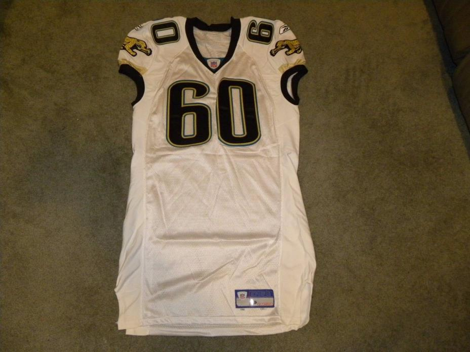 Jacksonville Jaguars 2005 White #60 NFL Game Issued Jersey