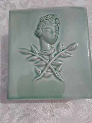 Art Deco Style Figural Pottery Vase