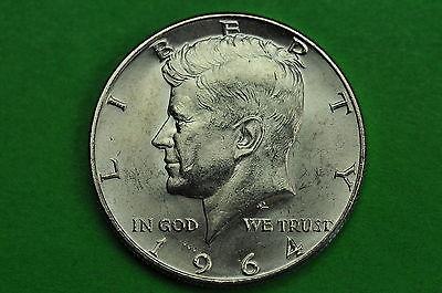1964-D  AU   Kennedy  SILVER  Half  Dollar (90% Silver)