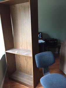 Bookcase and office chair (Tottenham Cove)