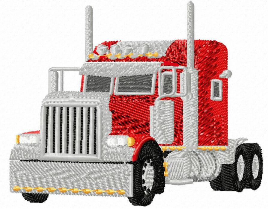 Big Rig Truck (Red) Embroidery Patch