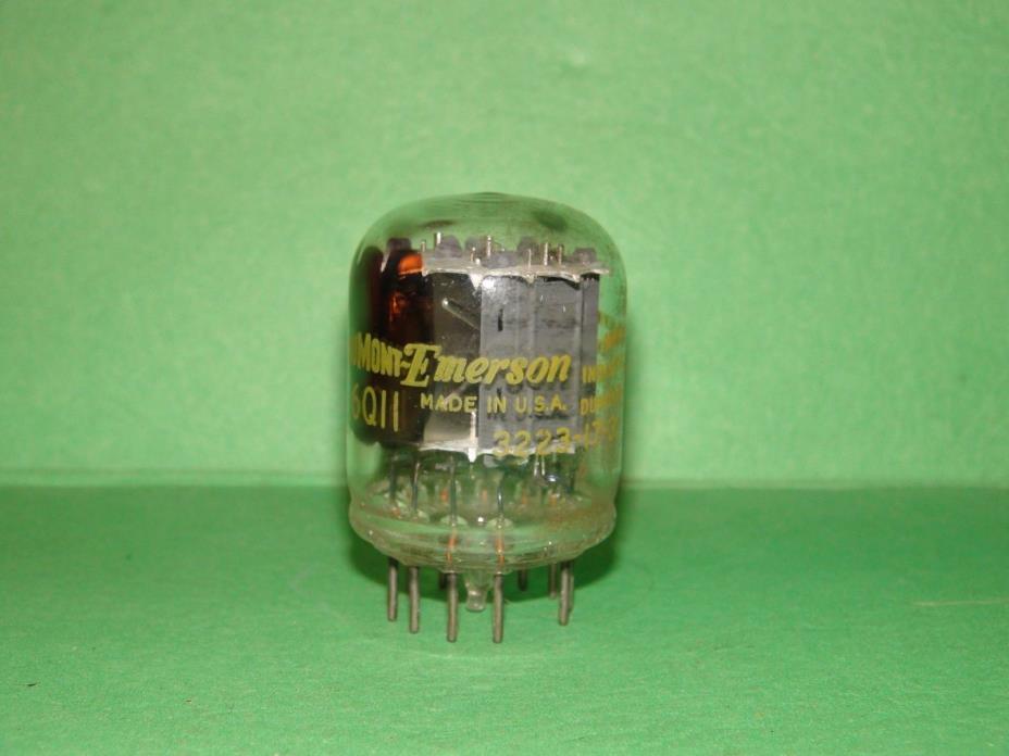 Dumont Emerson  6K11 6Q11  Vacuum Tube Results 2610|1100|1145