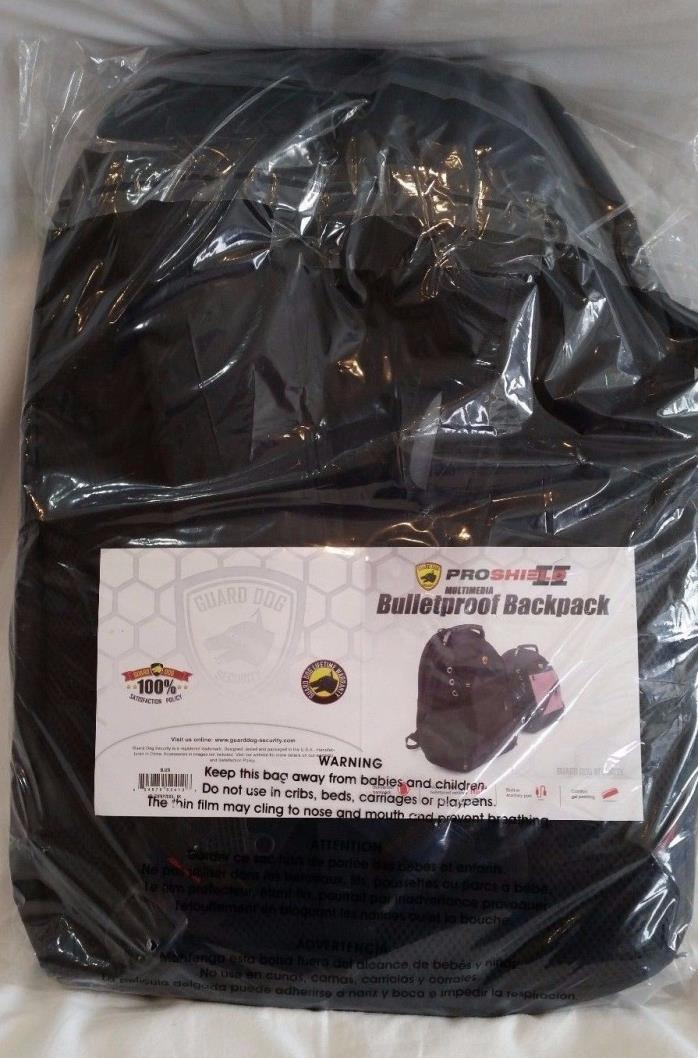 NIB Guard Dog Security ProShield 2 Bulletproof Backpack NIJ Level IIIA