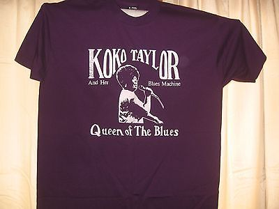 AUTOGRAPHED KOKO TAYLOR AND HER BLUES MACHINE QUEEN OF THE BLUES CONCERT SHIRT