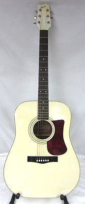 Fender Gemini 4 IV White Right-Handed 6-String Acoustic Guitar Instrument
