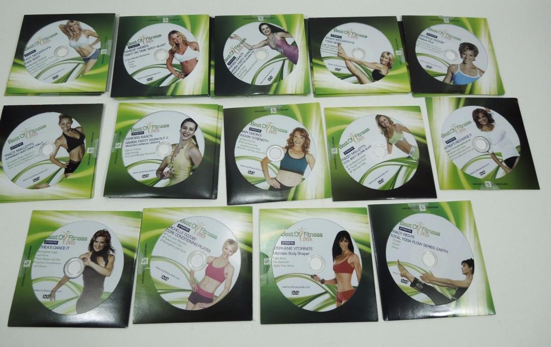 26 Best of Fitness DVD's ~ Pilates Yoga Samba Dance Body Shaper Core Conditioner