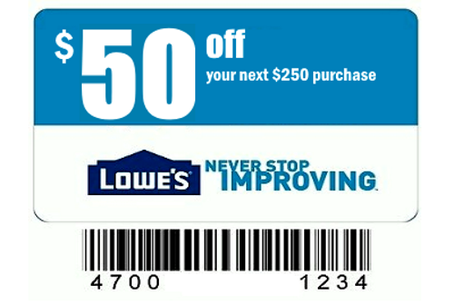 photo relating to Lowes 50 Off 250 Printable Coupon referred to as Lowes Coupon 8 - For Sale Clifieds