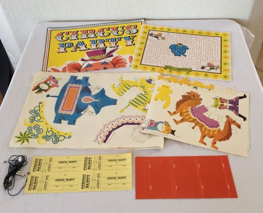 60S VINTAGE PILLSBURY CIRCUS PARTY KIT PREMIUM GIVEAWAY Unpunched Complete!!