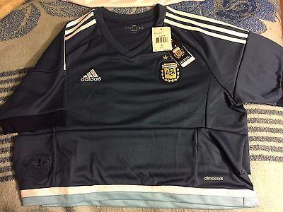 adidas Argentina Away 2015 Jersey (Navy)  LARGE L MESSI