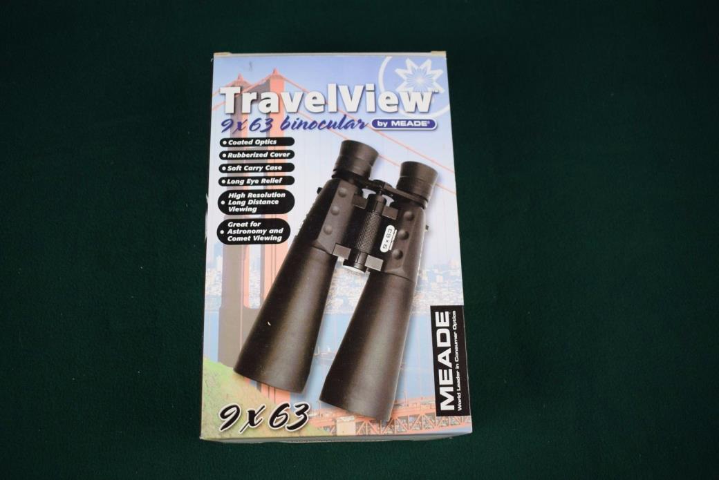 Meade TravelView 9x63 binoculars - NEW