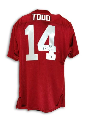 Richard Todd Autographed Jersey - Alabama Crimson Tide Throwback - Autographed