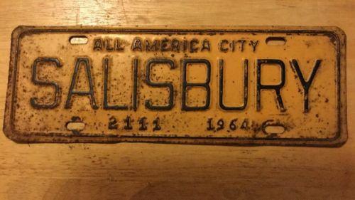 1964 Salisbury North Carolina City License Plate Topper #2111, NC.